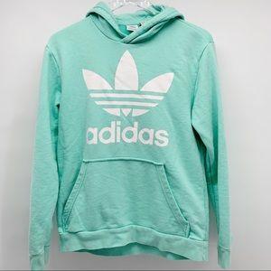 Adidas Girls Hoodie Mint Green Size XL